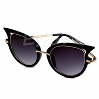 620c5005ec4 metal frameless eyeglass frames NZ - Retro Womens Mirror Sunglasses Metal Frame  Golden Leg Cat Eye