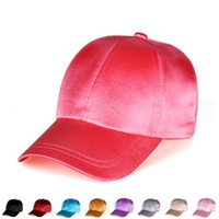 Wholesale hat sunscreen for sale - Group buy Solid Stain Baseball Cap Silk Outdoor Casual Sunshade Sunscreen Hats Beach Sun Visor Caps For Men Women Party Favor RRA2639