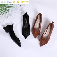 Wholesale hair styling puff for sale - Group buy 220303 horse hair buckle pointed high heels Women High heels Sandals Slippers Mules Slides PUMPS SHOES SNEAKERS Dress Shoes