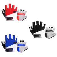 Wholesale fingerless bike gloves resale online - OutdoorHalf Finger Cycling Gloves Bicycle Sports Riding Padded Gloves Fingerless Riding Motorcycle Fitness Training Bike Gloves