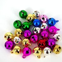 Wholesale bells wind chime resale online - 50PCS Charm Durable Copper Decoration Festival Christmas Cute Wind Chimes Accessories Metal Jewelry Round DIY Bell Lightweight