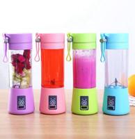 Wholesale portable blenders resale online - 1300MA Electric Juicer Cup Mini Portable USB Rechargeable Juice Blender And Mixer leaf plastic Juice Making Cup LJJK2335