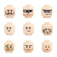 Wholesale toy military soldiers for sale - MOC City Accessories Building Blocks Minifigs Face Heads Block SWAT Military Soldier Figure Parts Camo Head BlocksBrick Toys For Children