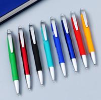 caneta esferográfica de plástico impresso venda por atacado-Borracha de plástico com logotipo personalizado impressão entrega rápida preto recarga esferográfica caneta esferográfica caneta promocional personalizado SN3108