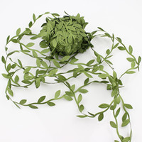 ingrosso wedding wreath artificial flowers-200m artificiale Fiori verdi foglie Rattan fai da te Garland Corone di accessori per la casa decorazione della festa nuziale foglie di falsi