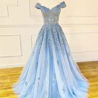 Wholesale dresses plus size long cinderella for sale - Group buy Cinderella Prom Dress A Line Long Military White Formal Party Pageant Gowns Off the Shoulder Lace Up Back Sleeveless with Bones