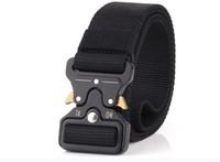 cinturones de servicio táctico al por mayor-2019 Cinturón táctico, estilo militar Correas de la red Cinturón de tela Servicio pesado de liberación rápida Hebilla de metal 1.5 '' de ancho envío gratis