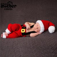 Wholesale baby clothes photo for sale - Group buy Designer Baby s Photography Clothing Europe and America Baby Photo Christmas Theme Costume Red Yarn Christmas Costume