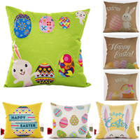 Wholesale free easter eggs for sale - Group buy New Easter Rabbit Egg Pillow Covers Cushion Cover Glamour Square Pillowcase Cushion Cover Home Office Sofa Car Decoration Free DHL HH7