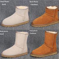 satin bowknot schuhe großhandel-HOT WGG Winter Schnee Stiefel Australia Classic gute Mode hohe Stiefel aus echtem Leder Bailey Bowknot Frauen Bailey Bow Kniestiefel Herrenschuhe