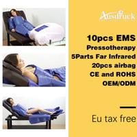 ems infrarot schlankheits-maschine großhandel-Professionelle Pressotherapie, die Maschinenluftdrucklymphdrainage abnimmt EMS-Massage-ferne Infrarotverpackung, die Körperformungsausrüstung abnimmt