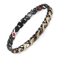 Wholesale chains germanium for sale - Group buy Stainless Steel Fashion Bracelet Vacuum Plating Magnet Bracelet Negative Ion Germanium