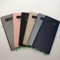 samsung galaxy note için pil yuvası toptan satış-SAMSUNG Galaxy Not 8 için Arka Pil Cam Kapak N950 Arka Kapı Konut Case Paneli Note8 SAMSUNG Not 8 Arka Pil Kapağı