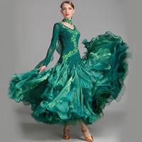 ballsaal kleider für tango großhandel-Standard Ballsaal Kleid Frauen Wettbewerb Standard Tanzkleid für Tanz Ballsaal Rumba Kleider Tango Walzer Kostüme