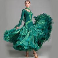 vestidos de baile para mulheres venda por atacado-Vestido de baile padrão das mulheres competição padrão vestido de dança para dança de salão de baile rumba vestidos trajes de tango valsa