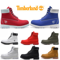 Wholesale mens white gym shoes resale online - Timberland Boots For Men Women Designer Winter Boot Military Blue Triple Black White Fashion Mens Trainer Hiking Outdoor Shoes Sneaker