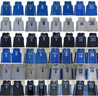 College Basketball Duke Blue Devils Jersey Kyrie Irving 1 Zion Williamson Cam Reddish RJ Barrett Marvin Bagley III Jayson Tatum Ingram Allen