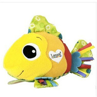 Wholesale paper christmas rings resale online - Clownfish Cloth Toy Lamaze Feel Me Fish Doll Massage Particle Ring Paper Cute Multi Touch bc F1