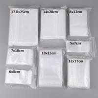 sacola de plástico transparente venda por atacado-100 pçs / lote Pequeno Zip Bloqueio Sacos De Plástico Reclosable Transparente Jóias / Saco de Armazenamento De Alimentos Saco De Cozinha Pacote Saco Ziplock Claro Preço de Atacado