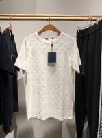 nueva camiseta de los hombres al por mayor-2019 Italia nuevo de alta calidad para hombre Camiseta de terciopelo de alto grado de lujo US SIZE ~ tops de hombre de diseño cómodo y suave camiseta ZDL 89.