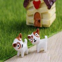 decoración del hogar zakka al por mayor-Perros de dibujos animados Jardín de hadas Miniaturas gnomos musgo terrarios resina artesanía para la decoración del hogar Zakka 2 Color