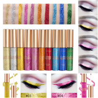 Wholesale 10pcs Colorful Shiny Liquid Eyeliner Matte Tint Long Lasting Waterproof Makeup Eye shadow Eye Liner Liquid Cosmetics Smooth Tool