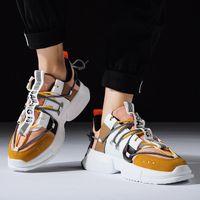 ingrosso zapatos hombre hip hop-Primavera maschile Hip-Hop scarpe alte Gz colorate Kanye Chunky Sneakers Cross Tied Tenis scarpe casual traspiranti Zapatos Hombre