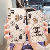 cáscara transparente iphone al por mayor-Diseño de marca de impresión letra inglesa C cubierta del teléfono transparente para iphone X 7 7plus 8 8plus 6 6plus TPU cáscara suave