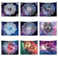 galaxie traumfänger großhandel-Sterne Sternenhimmel Galaxy Tapisserie Mond Sonne Dreamcatcher Wandbehang 150 * 130cm Tagesdecke Dekor Strand Yoga Matte Schal Handtuch Decke AAA1759