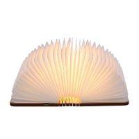 Usb Rechargeable Folding Book Light Desk Table Bedside Lamp Warm White Bedroom Decor Led Lighting Night Lights