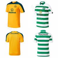 kits de futebol marrom venda por atacado-19-20 FC Celtic 49 FORREST Jersey Homens De Futebol 42 MCGREGOR 8 BROWN 1 GORDON 6 BITTON 21 NTCHAM 22 EDOUARD Kits De Camisa De Futebol