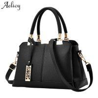 c4cc977ccda Aelicy PU Leather luxury Handbags women bags fake designer handbags 6  Colors Female Shoulder Bag Ladies Top-handle Bag 1023