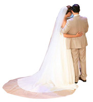 Wholesale cathedral veils for sale - Best Selling Real Image Wedding Veils Three Meters Long Veils Lace Two Layers Cathedral Length Cheap Bridal Veil With Comb