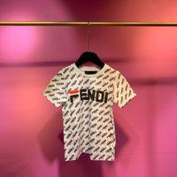 ingrosso comprare vestiti di cotone-Fen 2019 T-shirt a maniche corte nuova primavera precoce con tessuto di cotone di alta qualità importato Acquista vestiti Modello di lettera di piastrelle