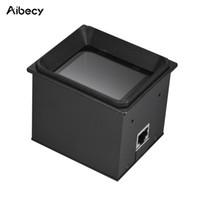 escáner código qr al por mayor-Módulo de escáner integrado Aibecy 2D / QR / 1D Escáner de código de barras Motor de escaneo con cable RS232