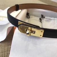 cinturones de diseño popular al por mayor-Popular marca de moda KELLY H Cinturones de cuero real para mujeres de negocios Casual Fiesta Amantes de la boda regalo Cinturón de lujo Con caja original