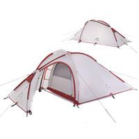 naturehike outdoor camping zelt großhandel-NatureHike 3 Man Große Camping-Zelt im Freien Ultra ein Schlafzimmer ein Wohnzimmer Camp Zelte MMA2176-1