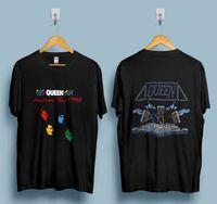 vintage band t-shirts großhandel-Vintage Queen Tshirt 1982 Hot Space Tour Glam Rock Band Freddie Mercury Reprint Heißer 2019 Sommer Männer T-Shirt