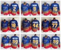 maillot de hockey gilmour achat en gros de-99 Wayne Gretzky Jerseys Hommes St. Louis Blues Hockey 2 Al Macinnis 16 Maillot Vintage Brett Hull CCM 9 Doug Gilmour 11 Brian Sutter