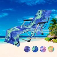 toallas de silla al por mayor-Toalla de silla de fibra extrafina 75 * 210 cm 4 colores Portátil Toalla de playa Piscina Tumbona Cubierta de silla OOA7121