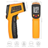 Wholesale temperature gun contact infrared thermometer laser for sale - Group buy TN400 Non Contact LCD IR Laser Infrared Digital Temperature Thermometer Gun