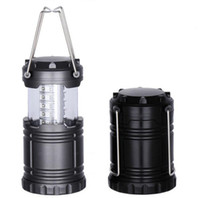 Wholesale flashlight stock for sale - Group buy 30LED Camping Lantern Flashlights Emergency Outdoor Portable Lantern Collapsible Camping Tents Light Novelty Items CCA11494