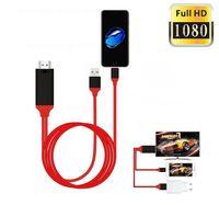 ipad av adaptörü hdmi toptan satış-8 Pin HDMI Kablosu Iphone HDMI HDTV TV Adaptörü Akıllı Dijital AV Kablosu 1080 P iPad Için Pro Hava iPhone X Xs Max XR 8 7 Artı 6 S