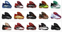 Wholesale indoors boots shoes online - New Predator Predator FG PP Paul Pogba soccer x cleats Slip On football boots mens high top soccer shoes cheap