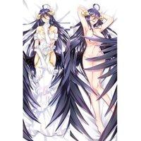 menina japonesa sexy novo venda por atacado-Sexy Girl Japonês Novo Anime Jogo Anime Overlord Albedo Jogue Otaku Dakimakura Presentes Cama De Enfrentar O Corpo Fronha 150x50 CM