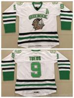 toews lutando sioux jersey venda por atacado-Qualidade superior # 9 Jonathan Toews Faculdade Hockey Jersey NCAA North Dakota Luta Sioux 9 Jonathan Toews jerseys Universtiy um Patch