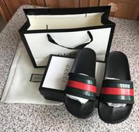 Wholesale sandals words for sale - Group buy Luxury Designer slippers sandals men sandals lazy teen crowd bottomed sandals Y summer slides word drag drag recreation Slippers