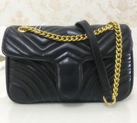 ingrosso catena d'oro per borse-Borse a tracolla delle donne di modo di vendita calde Sacchetto classico delle borse della borsa delle donne delle borse della borsa delle borse della catena dell'oro di Marmont del cuore di stile 26cm delle borse del messaggero
