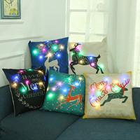 capas de luz de escritório venda por atacado-Led Night Light 45 * 45 CM Fronhas Quarto Home Office Decorativa Fronha Decoração de Natal