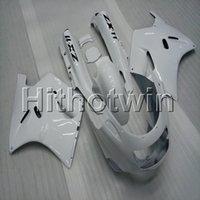 1992 ninja kawasaki için fairings toptan satış-Kawasaki ZX11R ZZR1100 1992 1993 1994 1995 1996 1997 1998 1999 2000 2001 ABS motorlu kaporta için vidalar + 8Gifts beyaz motosiklet kaporta
